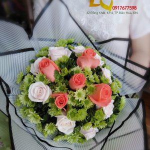 bó hoa chúc mừng, hoa chúc mừng, bó hoa, hoa hồng, hoa cúc xanh
