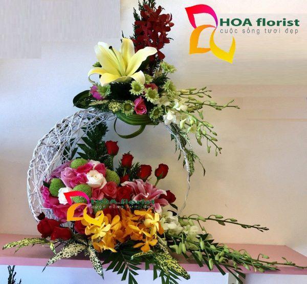 Chờ người, hoa tươi, lẳng hoa, quà tặng, điện hoa trực tuyến, đặt hoa trực tuyến