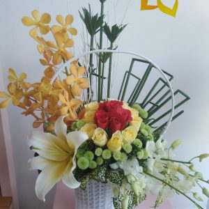 che chở, hoa tươi, hoa đẹp, hoa hồng, giỏ hoa, giỏ hoa tươi