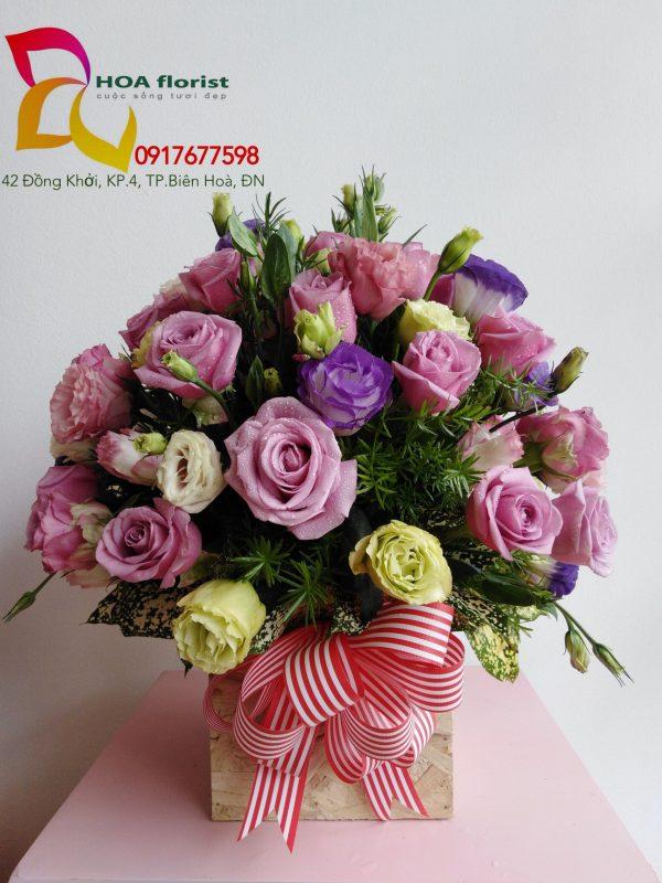 đằm thằm , giỏ hoa, hoa tươi, giỏ hoa đẹp, hoa đẹp, hoa hồng, giỏ hoa hồng