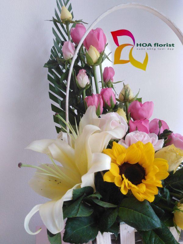 nét duyên, lẳng hoa, hoa tươi, hoa đẹp, hoa hồng, hoa hướng dương, hoa ly