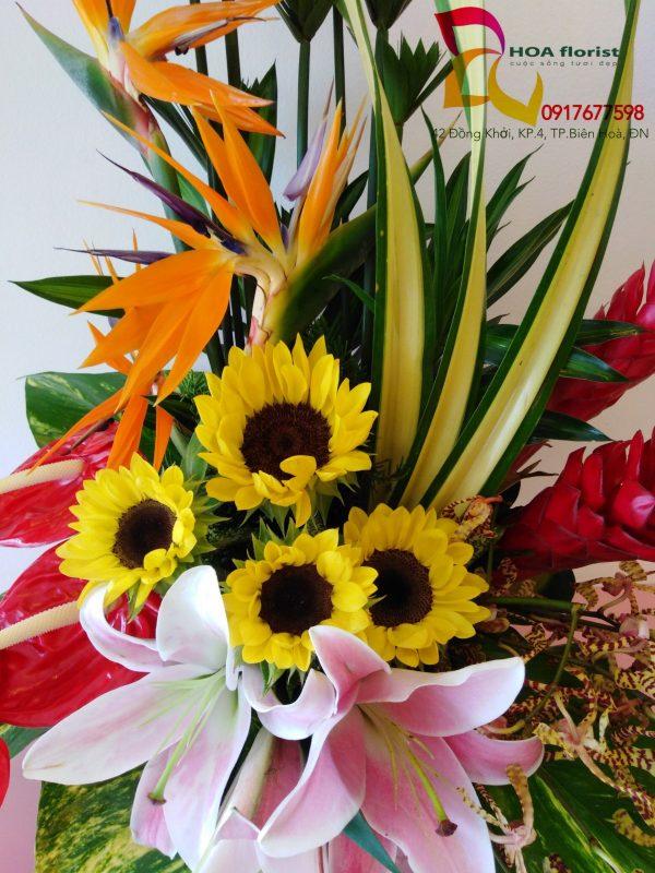 như ý, hoa tươi, giỏ hoa, hoa đẹp, hoa thiên điểu, hoa hướng dương