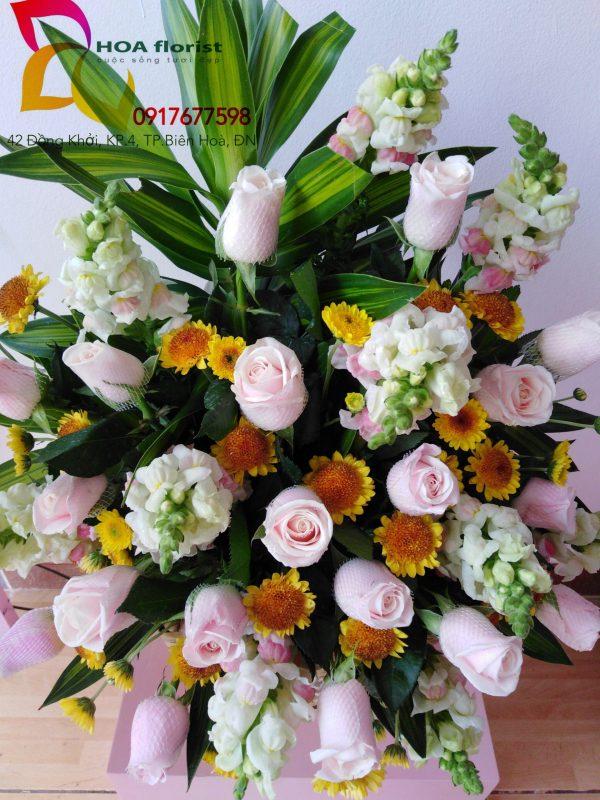 sum vầy, hoa tươi, giỏ hoa, hoa đẹp, hoa hồng