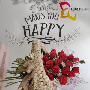 sweet love, giỏ hoa, hoa tươi, giỏ hoa tươi, giỏ hoa hồng, hoa hồng đỏ, hoa hồng