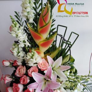 thành công, giỏ hoa, hoa tươi, hoa đẹp, hoa may mắn, hoa hồng, lá cá chép, hoa mõm sói