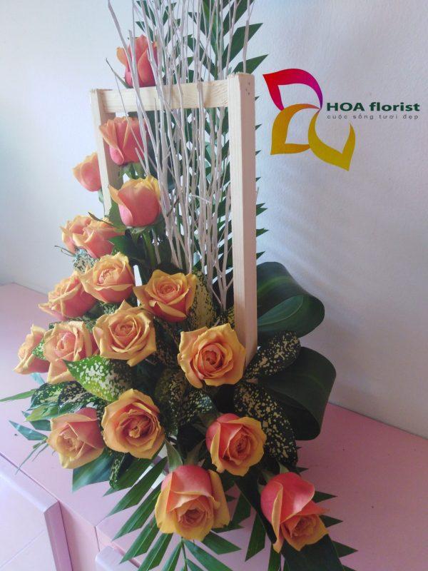 thanh xuân, hoa tươi, giỏ hoa, hoa hồng, hoa hồng hai da