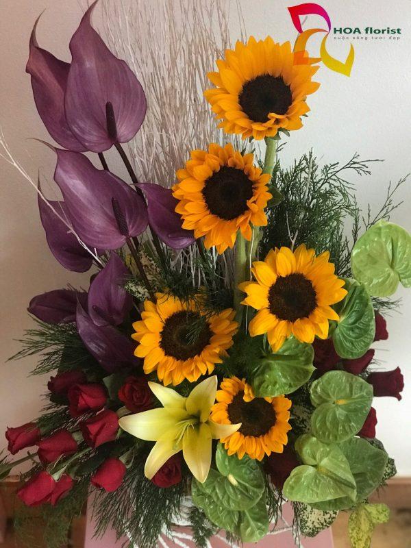 đơn phương, hoa tươi, lẳng hoa, hoa hướng dương, hoa đẹp