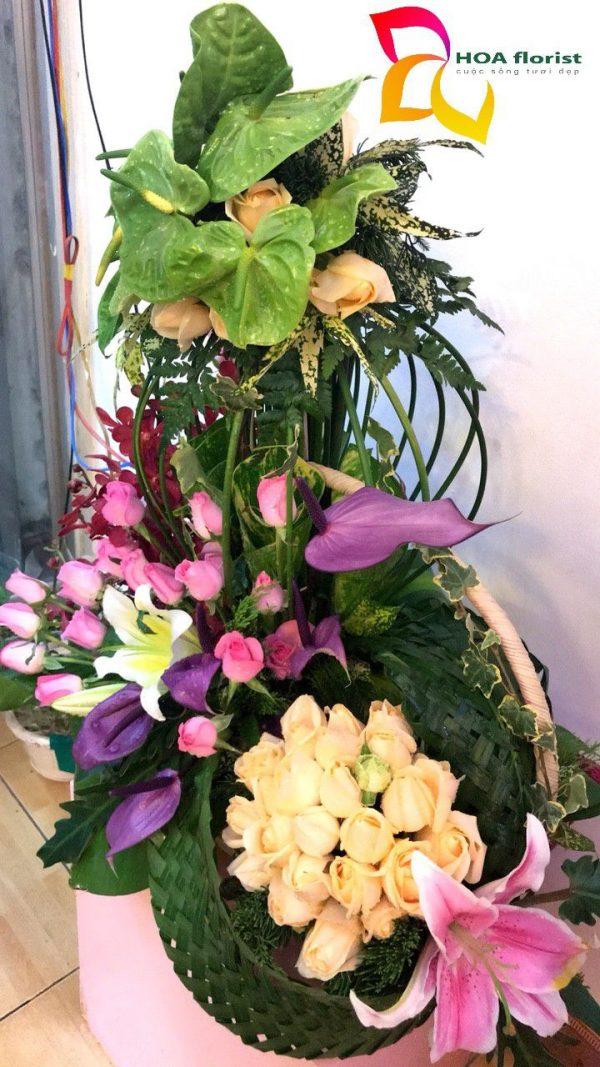 High Dream, lẳng hoa, hoa tươi, hoa môn, hoa ly