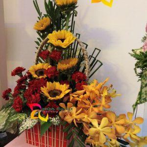 mặt trời đỏ, lẳng hoa, hoa tươi, điện hoa trực tuyến, đặt hoa trực tuyến, hoa hồng, hoa lan vũ, hoa hướng dương, hoa hồng đỏ