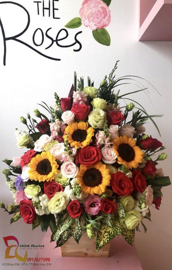nắng hạ, hoa tươi, lẳng hoa, hoa hồng, hướng dương, hoa tươi, hoa đẹp