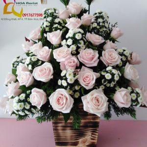 tưởng nhớ, hoa viếng, hoa chia buồn, hoa tươi, lẳng hoa