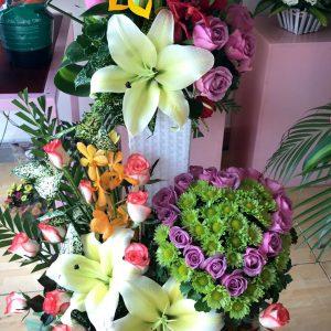 trái tim chung tình, lẳng hoa, hoa tươi, điện hoa trực tuyến, mua hoa trực tuyến